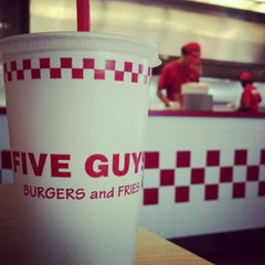 Photo taken at Five Guys by Adam L. on 4/5/2012