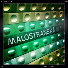 Photo taken at Metro =A= Malostranská by Honza F. on 5/2/2012