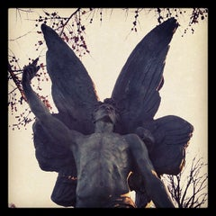 Photo taken at The Green-Wood Cemetery by Luci W. on 1/25/2012