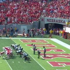 Photo taken at Memorial Stadium by Kara D. on 9/5/2012