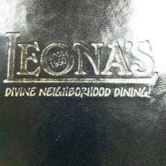 Photo taken at Leona's by Evonne D. on 1/14/2012
