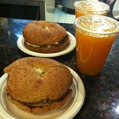 Photo taken at Brooklyn Bagel & Coffee Company by Meg C. on 11/16/2011