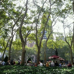 Photo taken at Southwest Porch at Bryant Park by Sarah0s on 10/11/2011