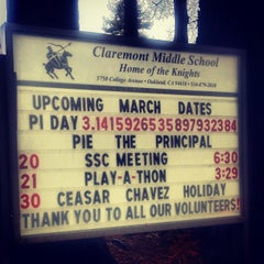 Photo taken at Claremont Middle School by Alan C. on 3/16/2012