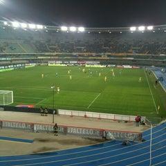Photo taken at Stadio Marc'Antonio Bentegodi by Agriturismo Cà Nuova on 10/26/2011