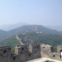 Photo taken at 慕田峪长城 Great Wall at Mutianyu by Omara on 8/24/2012
