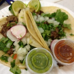 Photo taken at Rancho Bravo Tacos by Mae R. on 1/22/2012