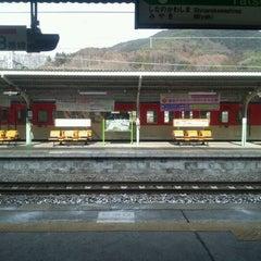 Photo taken at 辰野駅 (Tatsuno Sta.) by golgodenka on 1/27/2012