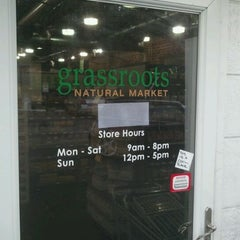 Photo taken at Grassroots Natural Market by Cookie W. on 10/3/2011