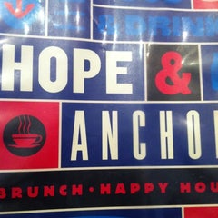Photo taken at Hope & Anchor Diner by Jon C. on 1/9/2011