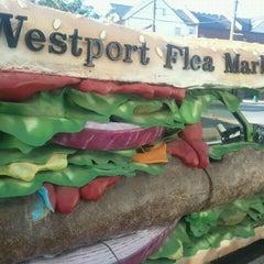 Photo taken at Westport Flea Market Bar & Grill by Viktoria F. on 8/14/2011