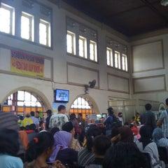 Photo taken at Stasiun Pasar Senen by Pipit S. on 4/5/2012