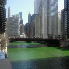 Photo taken at Chicago Riverwalk by Cristina P. on 3/17/2012