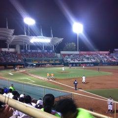 Photo taken at Estadio de Beisbol Eduardo Vasconcelos by Jesús B. on 4/11/2012