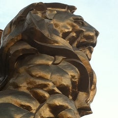 Photo taken at MGM Grand Lion Statue by Shanna D. on 5/5/2012