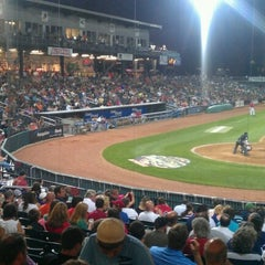 Photo taken at Northeast Delta Dental Stadium by Dan G. on 8/26/2012