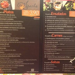 Photo taken at Gastro-Taberna El Gazpacho by Pepe J. on 8/4/2012
