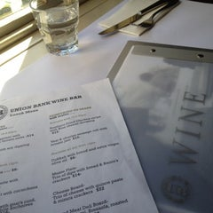 Photo taken at Union Bank Wine Bar & Wine Store by Jackie M. on 8/4/2012