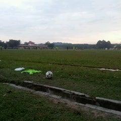 Photo taken at Padang Bola Sepak RRI by Shahanaz R. on 11/26/2011