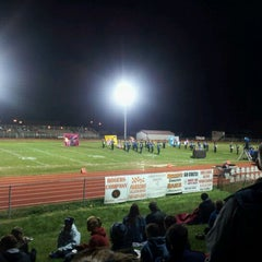 Photo taken at MHS Football Field by Jeremy N. on 10/15/2011