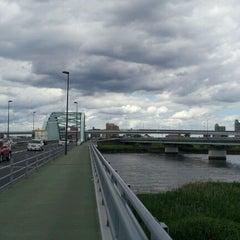 Photo taken at 四つ木橋 by yasuzoh on 6/10/2012