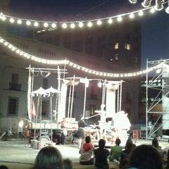 Photo taken at Santiago a Mil (Plaza de La Constitución) by Gabriela R. on 1/17/2012