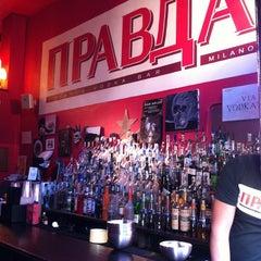 Photo taken at Pravda Vodka Bar by Michi M. on 3/30/2012