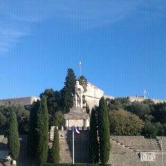 Photo taken at Stade du Fort Carré by Julien B. on 11/13/2011