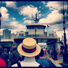 Photo taken at Governors Island Ferry by Mollie  G. on 8/18/2012