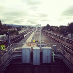 Photo taken at Bay Fair BART Station by Ashley P. on 11/25/2011