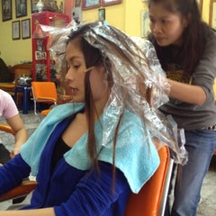 Photo taken at Jane Salon by P. K. on 4/1/2012
