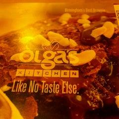 Photo taken at Olga's Kitchen by Rochelle J. on 6/14/2012
