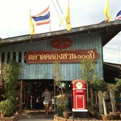 Photo taken at ตลาดคลองสวน 100 ปี (Klong Suan 100-Year-Old Market) by Creamy N. on 4/15/2012