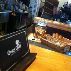 Photo taken at Once Over Coffee Bar by Amber E. on 2/18/2012