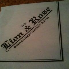 Photo taken at The Lion & Rose British Restaurant & Pub by Sage on 4/4/2011