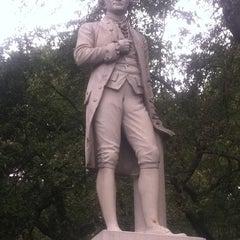 Photo taken at Alexander Hamilton Statue by Mandola Joe on 9/17/2011