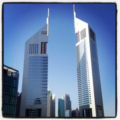 Photo taken at Emirates Towers أبراج الإمارات by Yasuhiro I. on 4/26/2012
