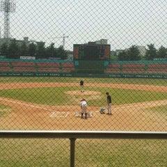 Photo taken at 청주종합운동장 야구장 (Cheongju Baseball Stadium) by Jongduk B. on 5/25/2012
