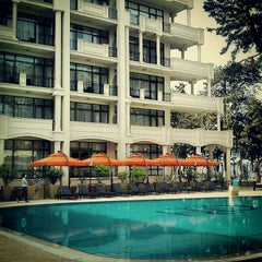 Photo taken at open air swimming pool @ Georgia Palace Hotel by Yaron K. on 5/2/2012