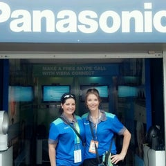 Photo taken at Panasonic Skype Station - US Open by Lisa J. on 9/3/2012