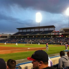 Photo taken at Harbor Park by Nikki S. on 4/10/2012