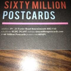 Photo taken at Sixty Million Postcards by blackKrypt0nite on 8/31/2012