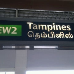 Photo taken at Tampines MRT Station (EW2/DT32) by Edy S. on 8/30/2011