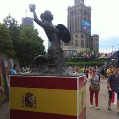 Photo taken at The Euro2012 Mermaid of Spain by Jaroslaw M. on 6/30/2012
