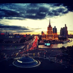 Photo taken at Краснопресненская набережная by Vlady G. on 9/10/2012