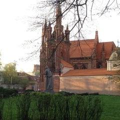Photo taken at Šv. Onos Bažnyčia   St Anne's Church by Darius K. on 4/28/2012
