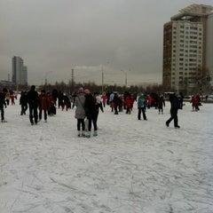 Photo taken at Каток возле национальной библиотеки by Andrei I. on 1/22/2012