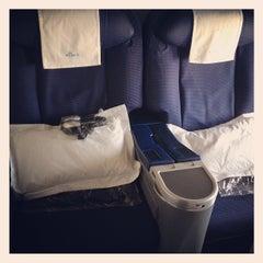Photo taken at KLM Flight KL643 [AMS - JFK] by Angelique C. on 8/12/2012
