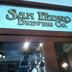Photo taken at San Pedro Brewing Company by Christy B. on 7/29/2012