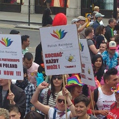 Photo taken at World Pride London 2012 by Adam P. on 7/7/2012